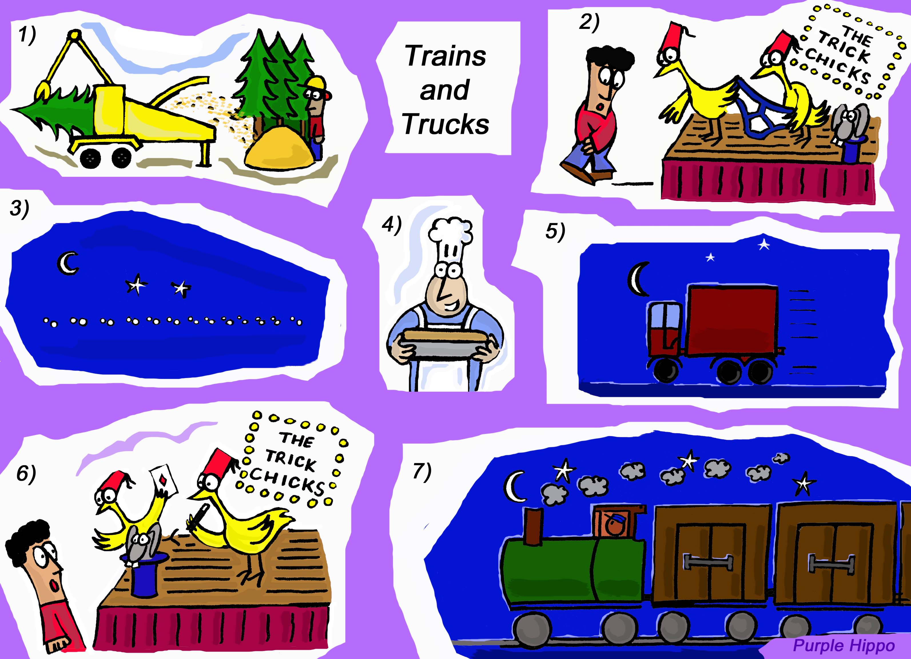 Trains and Trucks, Trains and Chains 'Tr' and 'Ch' activities