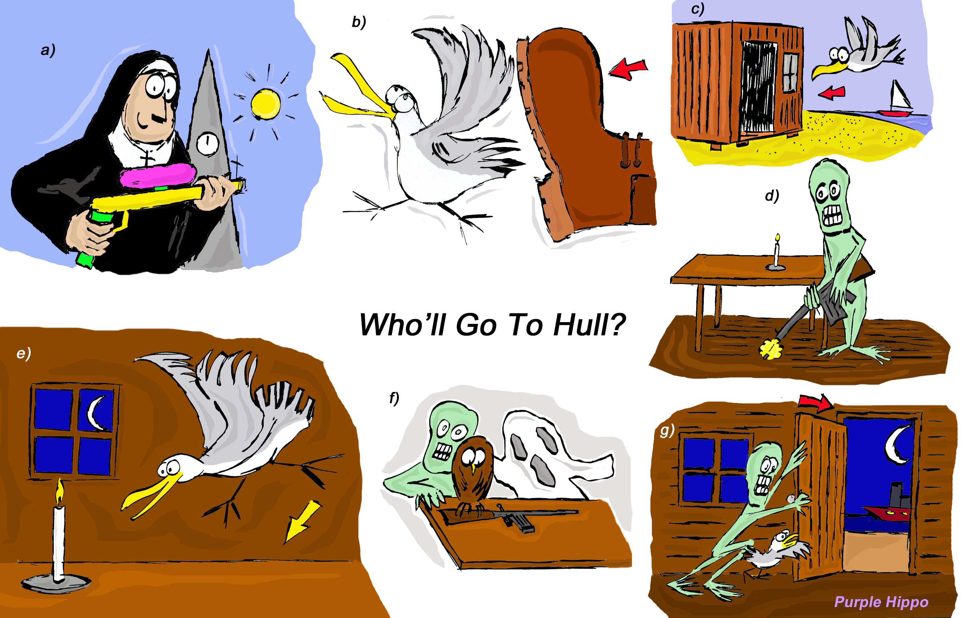 Who'll go to Hull? Activities to practise the pronunciation of words using /ʌ/ (like Hull), /u:/ (like Who'll)