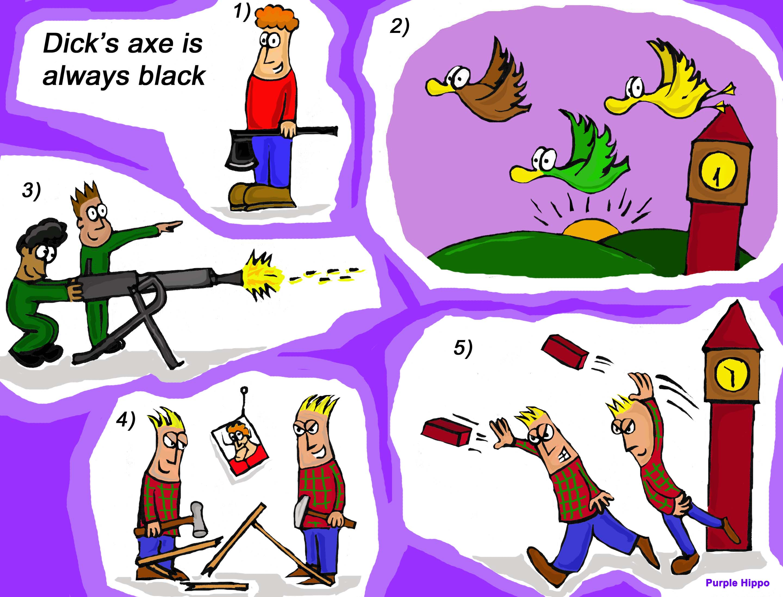 Dick's axe is always black – activities for the /sk/, /ks/ sounds